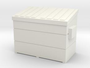 Dumpster small (1:87) in White Natural Versatile Plastic