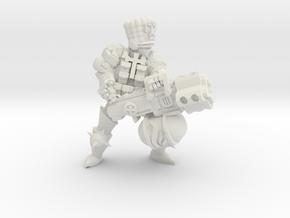 Combat Monk flamer in White Natural Versatile Plastic