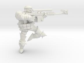 Combat Monk Sniper in White Natural Versatile Plastic