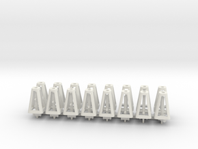 Jack Stands 16 pack 1-25 Scale in White Natural Versatile Plastic