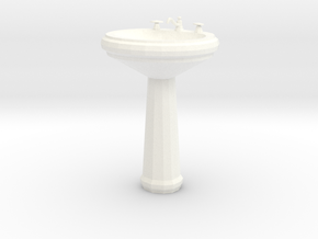 Dollhouse Miniature Pedestal Sink 'Finer Fare' in White Processed Versatile Plastic: 1:24