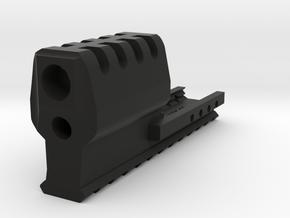 J.W. Frame Mounted Compensator (12-Slots) for HK45 in Black Natural Versatile Plastic