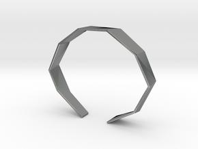 Faceted Bracelet Size L in Natural Silver