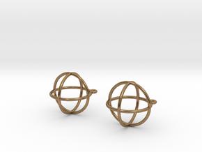 Orbit Earrings in Natural Brass