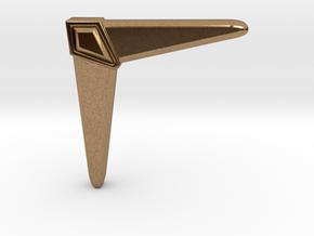 Boomerang in Natural Brass