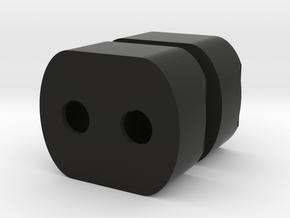 Enterprise C bussard led holders_5mm in Black Natural Versatile Plastic