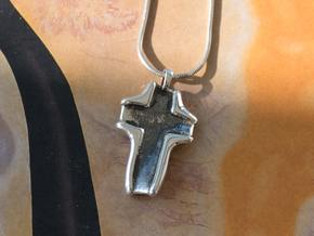 Cross Pendant - Twisted in Antique Silver