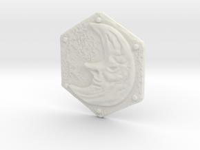 Resident Evil Remake Moon Crest in White Natural Versatile Plastic