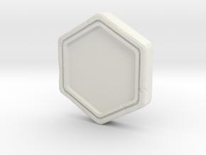 Resident Evil Remake Crest Frame in White Natural Versatile Plastic