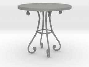 Dollhouse Miniature Table 'Finer Fare' in Gray PA12: 1:24