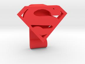 Super Button Tie in Red Processed Versatile Plastic