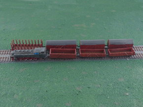 Mixed Freight Train Set 3 1/285 6mm in Smooth Fine Detail Plastic