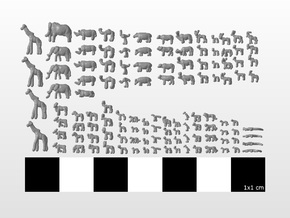 African Set 1:600 one hundred seventeen pieces in Smooth Fine Detail Plastic