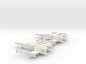 1/270 Scale X-Wing on Ground in White Natural Versatile Plastic