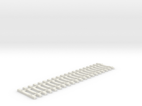 Concrete Tie Lattice - Oscale in White Natural Versatile Plastic