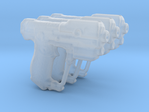 M6G Personal Defense Weapon 3.75 scale (3 pistols) in Smooth Fine Detail Plastic