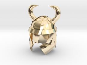Finger Hat: Viking Helmet in 14K Yellow Gold