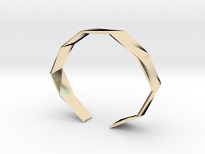 Faceted Bracelet Size M in 14K Yellow Gold