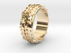 Swamper Tire Ring in 14K Gold