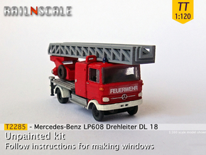 Mercedes-Benz LP 608 Drehleiter (TT 1:120) in Smooth Fine Detail Plastic