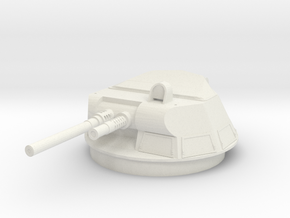 M113A1 T-50 Turret 1/15 in White Natural Versatile Plastic