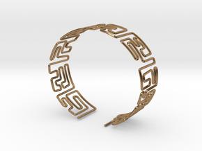 Maze Bracelet Size L in Natural Brass