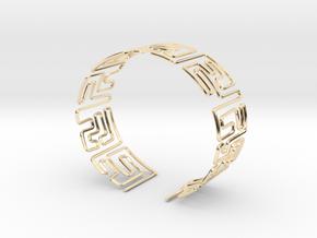 Maze Bracelet Size S in 14K Yellow Gold
