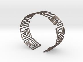 Maze Bracelet Size S in Polished Bronzed Silver Steel