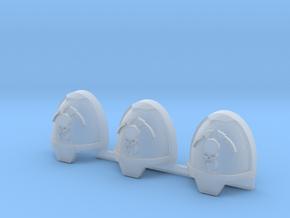 Skull and Scythe Gravus pads x3 L #2 in Smooth Fine Detail Plastic