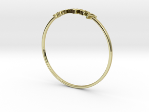 Astrology Ring Balance US11/EU64 in 18K Yellow Gold