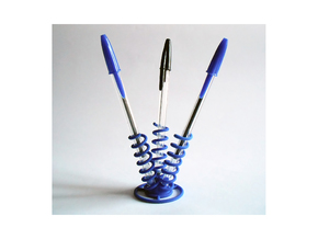Three Springs Pen Holder  in Blue Strong & Flexible Polished
