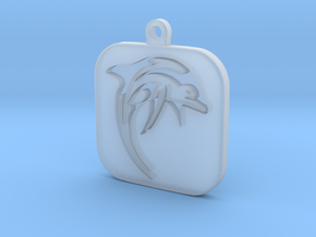 Dolphin Keychain in Smooth Fine Detail Plastic