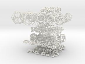 Johnson Solids in White Natural Versatile Plastic
