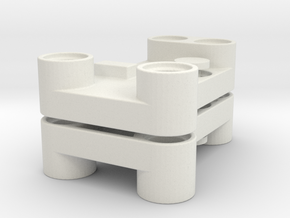wormgear holder for gearrack in White Natural Versatile Plastic