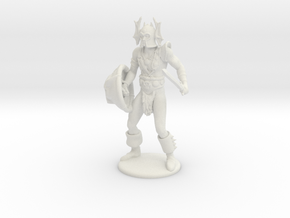 Warduke Miniature in White Natural Versatile Plastic: 1:55