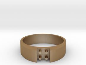 4-bit ring (US9/⌀18.9mm) in Matte Gold Steel
