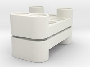 Wormgerholder v3 in White Natural Versatile Plastic
