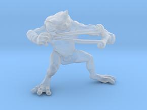 Bullywug Warrior Slingshot miniature model fantasy in Smooth Fine Detail Plastic