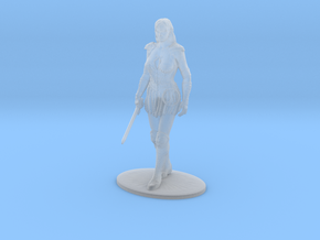 Xena Miniature in Smooth Fine Detail Plastic: 1:60.96
