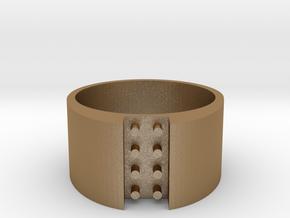 high 8-bit ring (US8/⌀18.2mm) in Matte Gold Steel
