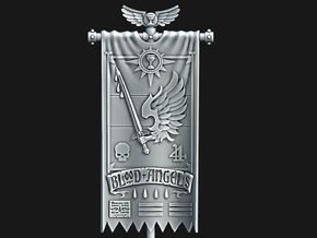 BA 4th Company Banner in Smooth Fine Detail Plastic: Medium