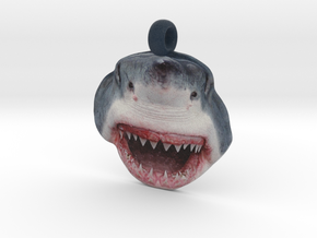 Shark Face Pendant (double-sided) in Full Color Sandstone