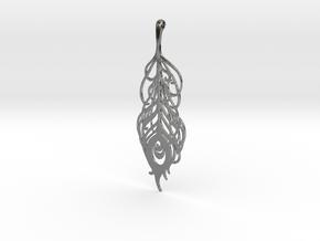 Peacock Necklace  in Premium Silver
