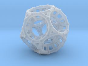 4d Polytope Bead - Non-Euclidean Math Art Pendant  in Smooth Fine Detail Plastic