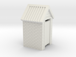 HO Scale Brick Outdoor Toilet Dunny 1:87 in White Natural Versatile Plastic