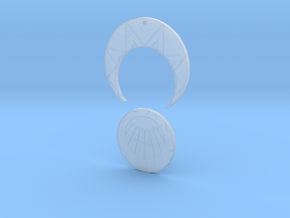Estaban and Zia's Medallion from The Mysterious Ci in Smooth Fine Detail Plastic