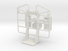 1/64th Reverse Ear Logging Headache rack, 3 bar in White Natural Versatile Plastic