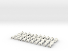 Magno-Electro Couplings for Liliput (Medium) x20 in White Natural Versatile Plastic