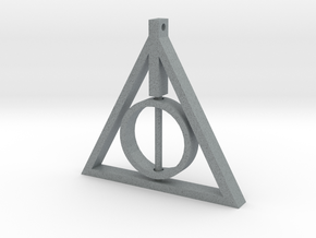 Deathly Hallows Rotating Pendant in Polished Metallic Plastic