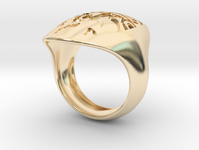 face recessed size 8 in 14K Yellow Gold